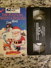 The Rudolph, Frosty & Friends Sing Along VHS FREE SHIPPING