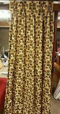 Camel print custom made  curtain panels and boxed valences