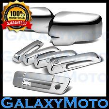 Ram 1500+2500+3500 Chrome Mirror w/Light+4 Door Handle+Tailgate+Keyhole Cover