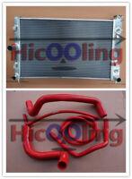 Radiator & red hose for Holden VZ Commodore GEN3 LS1 5.7L GEN4 LS2 6L V8 SS HSV