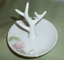 Vintage Porcelain Tree Ring Jewelry Holder Pansy OTAGIRI Japan