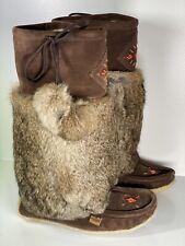 Womens Tecumseh Mukluk Tall Boots Chocolate Brown