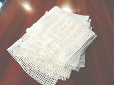 Beautiful collection of 6 Matching Doilies Antique Hand Crochet
