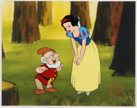 Walt Disney's Snow White and Doc LE 11x14 Animation Serigraph Cel Seven Dwarves