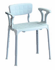 Sedia per doccia regolabile con braccioli estraibili 50x30 cm