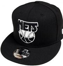 New Era NUOVO Jersey Nets HWC LOGO NERO BIANCO 9Fifty Berretto da baseball