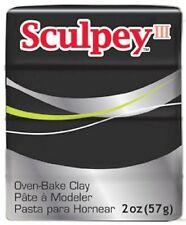 SCULPEY III - Polymer Clay - 57g - BLACK