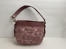 Coach Optic Signature Zoe Shoulder Bag Top Handle 44109 Lavender Rose