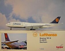 Herpa Wings 1:500 Boeing 747-8 Lufthansa d-abyc 516068-005 modellairport500
