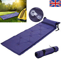 SELF INFLATING CAMPING ROLL MAT PAD INFLATABLE PILLOW BED SLEEPING MATTRESS GOUS