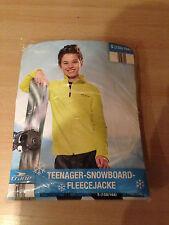 Teenager Ski- & Snowboard Fleece-Jacke *Gr. 152/158* gelb * NEU & OVP