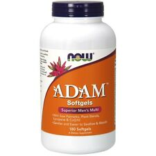 NOW FOODS ADAM Superior Men's Multi-Vitamin/Mineral CoQ10 180 Sgels Make In USA