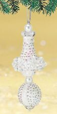 """""""Snow Queen"""" Kit makes 2 Ornaments Bead & Sequin Christmas White Crystal AB"""