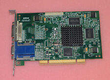 TESTED Retro PCI Matrox G450 Dual videocard 32 Mb DVI VGA G45 32Mb