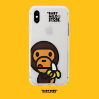 Baby Milo A Bathing Ape BAPE Transparent Case For iPhone 11 Pro Max XS XR 8 Plus