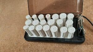 CARMEN 20 Heated Rollers & Clips : Heat Retaining Hair Curlers..