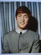 "John Lennon Beatles Early Publicity Photo Color 8"" x 10"" Reproduction Signature"