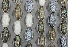 Wholesale Bulk Lots 50pcs Mixed Oversize Resin Jewelry Lady's Fashion Shell Ring