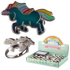 Cute Kids Unicorn Mood Ring - Kids Adjustable Jewellery + Colour Chart