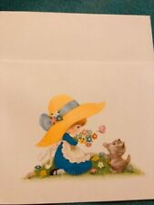 Vintage Stationary Betsey Clark 1 card with envelope and blank inside
