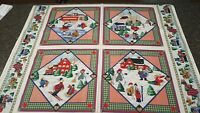 Winter Pillow Panel 35x42 The Kesslers Concord Fabrics Red Blue Green