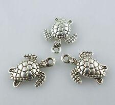24pcs Tibetan Silver Sea Turtle/Tortoise Charms Pendants 12x16mm