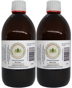 Graviola (Soursop) Concentrated Decoction Twin Pack (1050ml) in glass bottles