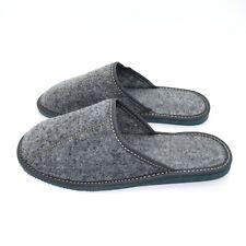 Mens Comfort House Slippers Felt Slip On Shoes UK Size 6 7 8 9 10 11 F GREY