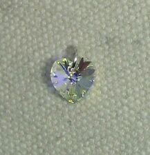 Crystal Heart Charm -Sterling Silver Jumpring & Made with SWAROVSKI - Crystal AB