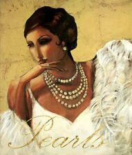 Marrone: Pretty in Pearl Donna Ragazza FATTO - Immagine 50x60