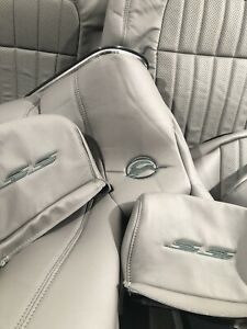 1994 95 96 Chevy Impala SS Leather Seat Front & Rear Kit: Gray w DGGM(1 Kit)