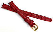 10mm echt HAIFISCHBAND rot Wein Haifisch Germany Graf Band Strap HAI Uhrband
