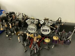 Set Of 9 KISS Alive Figures McFarlane Toys Lot Destroyer Gene Paul Ace Peter.