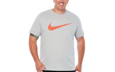 023d94e1 Nike Men's Size 4xl Dri-fit Cotton Swoosh Training Tee Shirt Grey Heather  XXXXL