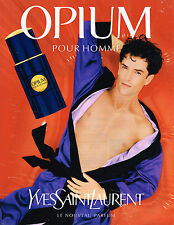 PUBLICITE ADVERTISING 064  1997  OPIUM   parfum YVES SAINT LAURENT pour homme