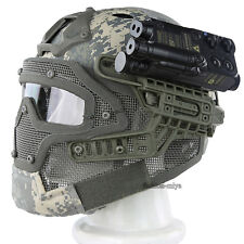 Tactical Protective CS Full Face Fast Bump Helmet Mesh Mask Goggles Armor System