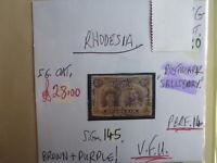 RHODESIA STAMP S.G. 145 6d BROWN PURPLE V.F.U.