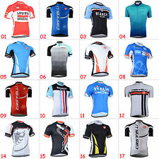 New Fashion Men's Cycling Bike Bicycle Wear Short Sleeve Jersey Tops Garments