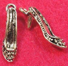 50Pcs. WHOLESALE Tibetan Silver 3D Hi-Heel SHOE Ladies Charm Earring Drops Q0054