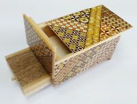 Drawer 10 steps Yosegi 5 sun Japanese Puzzle Box Made in JAPAN New OKA CRAFT