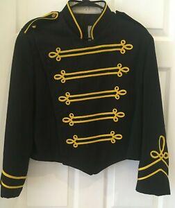 Vintage DeMoulin Marching Band Navy Blue Coat Jacket Uniform Military ? - 2