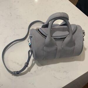 Alexander Wang Gray Suede Mini Rockie Bag