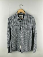 Jeanswest Men's Long Sleeve Button Up Shirt - Size Small - Blue Grey Check