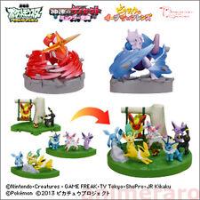 Pokemon BW 16th Movie Ver Zukan 1/40 Scale Figure - SET of 5 Genesect Sylveon Go