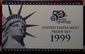 Uncirculated 1999 United States Mint 50 State Quarters Proof Set