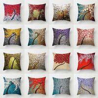 Cotton Linen Oil Painting Throw Waist Pillow Case Cushion Cover Home Decor Sofa