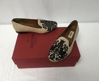 New In Box Valentino Rockstud Embroidered Smoking Slippers Size 36EU/6US $895.00