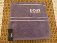 HUGO BOSS Hand Towel Branded Luxury Violet Soft Cotton Large 50x98cm Towels BNWT