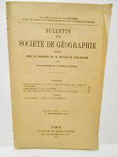Bulletin Société Géographie 2 ème trim. 1894 MAROC TAFILELT