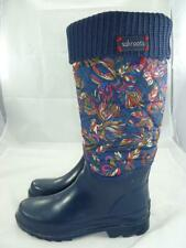 The Sak Sakroots Birds Used 7 Quilted Nylon/Rubber Rain/Snow Waterproof Boots